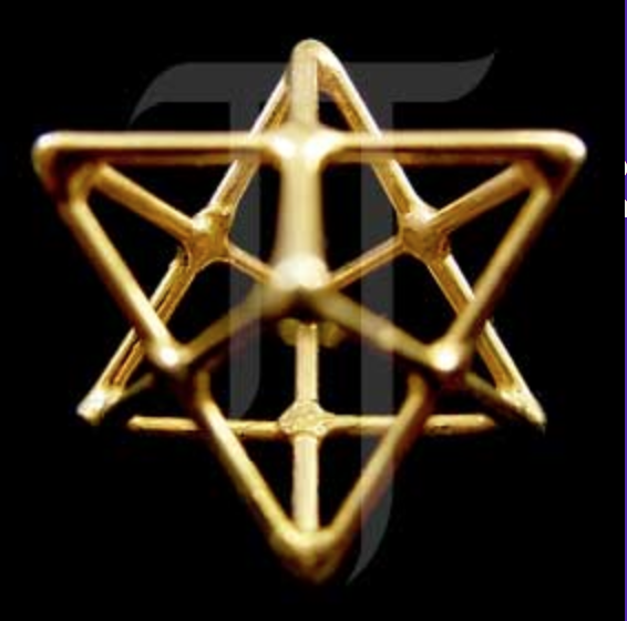 Star Tetrahedron [gold plate]