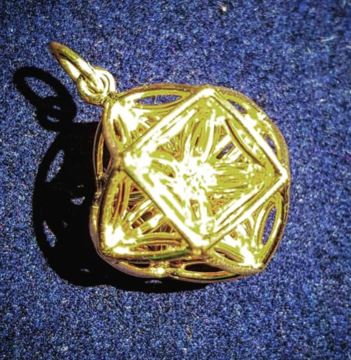 Seed Of life 3d {gold plate on silver]